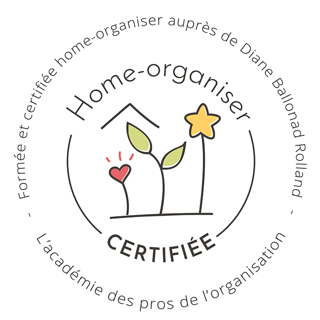Certification Home Organiser by Diane Ballonad Rolland